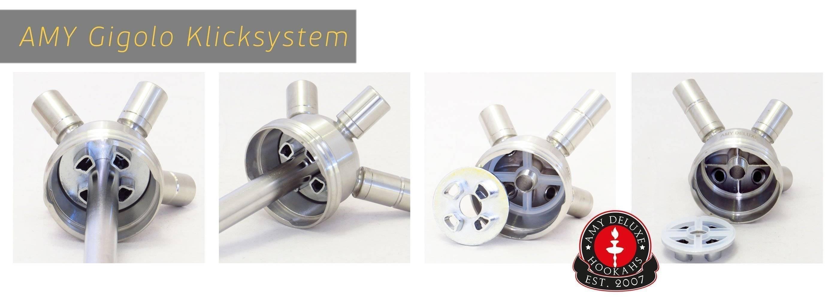 Система мультикамер и Klick system кальянов Amy Deluxe SS05