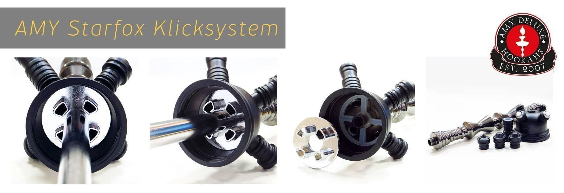 Система мультикамер и Klick system кальянов Amy Deluxe